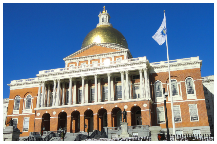 Massachusetss State house langs de Freedom Trail